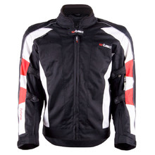 Women's Moto Jacket W-TEC Zefyros TWG-130 - Black-White-Red