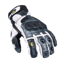 Men's Moto Gloves W-TEC Octane - White Gunmetal