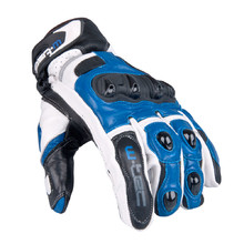 Men's Moto Gloves W-TEC Octane - White-Blue