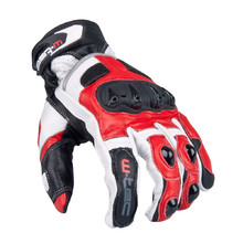 Men's Moto Gloves W-TEC Octane - White/Red