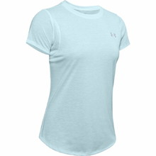 Women's Running T-Shirt Under Armour Straker 2.0 Short Sleeve - Rift Blue