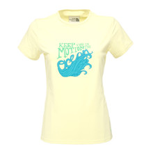 Woman's The North Face t-shirt Class V Watershirt - Light Yelow