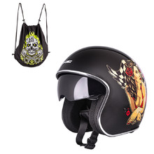 Motorcycle Helmet W-TEC V537 Black Heart - Hot Rod Angel, Black Sheen
