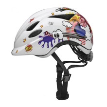 Children's Cycling Helmet Abus Anuky - Blue-White