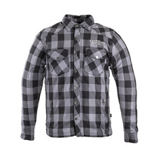 Aramid Motorcycle Shirt W-TEC Black Heart Reginald - Grey-Black