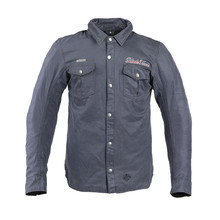 Waxed Shirt W-TEC Black Heart Ramon - Blue