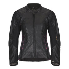 Women's Leather Motorcycle Jacket W-TEC Caronina NF-1174