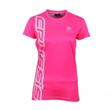 Women's Short Sleeve T-Shirt CRUSSIS Fluo-Pink - Fluo Pink