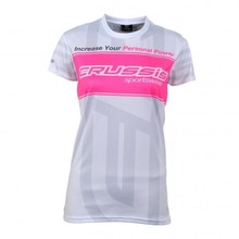 Women's Short Sleeve T-Shirt CRUSSIS White - White-Pink