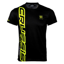 Men's Short Sleeved T-Shirt CRUSSIS Black-Yellow - Black-Fluo Yellow