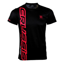 Men's Short Sleeved T-Shirt CRUSSIS Black-Raspberry - Black/Raspberry