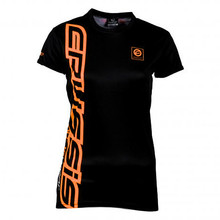 Women's Short Sleeved T-Shirt CRUSSIS Black-Orange - Black-Orange