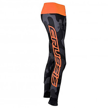 Women's Leggings CRUSSIS Gray-Orange - Grey Camo/Fluo Orange