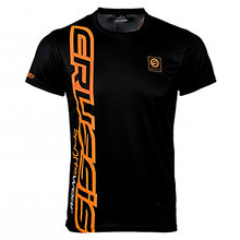 Men's Short Sleeved T-Shirt CRUSSIS Black-Orange - Black-Orange