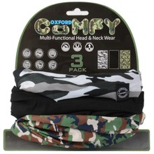 Universal Multi-Functional Neck Warmer Oxford Comfy 3-Pack - Camouflage