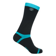 Waterproof Socks DexShell Coolvent - Aqua Blue Stripe