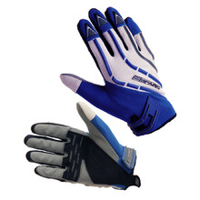 Moto gloves Spark Cross Textil - Blue