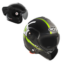 Motorcycle helmet ROOF Boxer V8 Suzuka - Black-Green