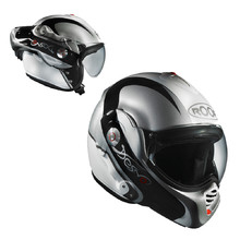 Motorcycle helmet ROOF Desmo Elico - White-Silver