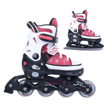Girls Skates 2in1 Action Gondo Red