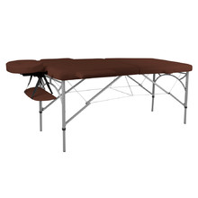 Massage Table inSPORTline Tamati 2-Piece Aluminium - Brown