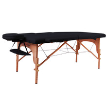 Massage Table inSPORTline Taisage 2-Piece Wooden - Black