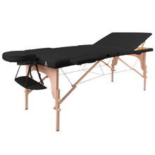 Massage Table inSPORTline Japane 3-Piece Wooden - Black