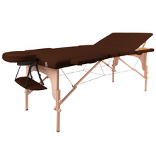 Massage Table inSPORTline Japane 3-Piece Wooden - Brown