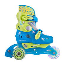 Children's Rollerblades WORKER TriGo Skate LED – with Light-Up Wheels - Blue