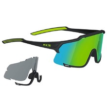 Cycling Sunglasses Kellys Dice - Black-Lime
