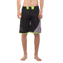Men's Board Shorts Aqua Marina Division - Black-Grey