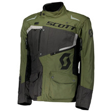 Motorcycle Jacket SCOTT Dualraid DP - Grey/Olive-Green
