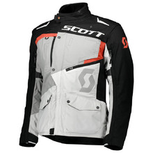Motorcycle Jacket SCOTT Dualraid DP - Titanium Grey/Orange