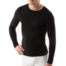 Men's Long Sleeved T-Shirt EcoBamboo - Black