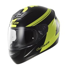 Moto Helmet LS2 Rookie Fluo Black-Hi-Vis Yellow