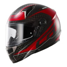 Moto Helmet LS2 CR1 Trix - Diablo Red Big Carbon