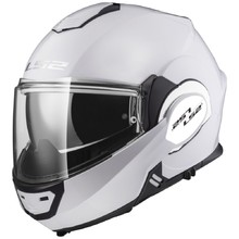 Flip-Up Motorcycle Helmet LS2 FF399 Valiant - Gloss White
