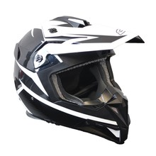 Ozone FMX Motorcycle Helmet - Black-White