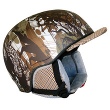 WORKER Flux Snowboard Helmet - Khaki Graphic