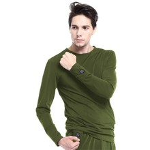 Heated Long-Sleeve T-Shirt Glovii GJ1C - Green