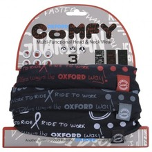 Universal Multi-Functional Neck Warmer Oxford Comfy 3-Pack - Grafitti Mono