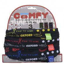 Universal Multi-Functional Neck Warmer Oxford Comfy 3-Pack - Grafitti Multi