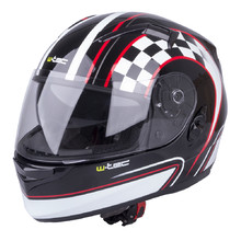 Motorcycle Helmet W-TEC V122 - Black and Graphics