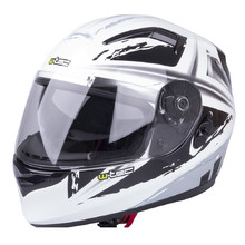 Motorcycle Helmet W-TEC V122 - Black-White