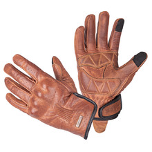 Leather Motorcycle Gloves W-TEC Dahmer - Dark Brown