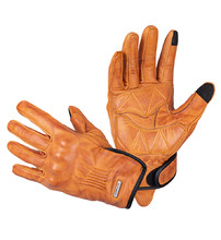 Leather Motorcycle Gloves W-TEC Dahmer - Light Brown
