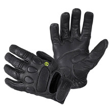 Leather Motorcycle Gloves W-TEC Cherton - Black