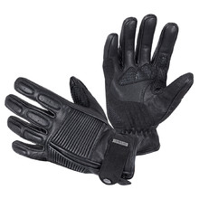 Leather Motorcycle Gloves W-TEC Mareff - Black