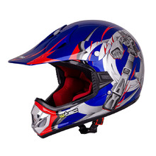 Junior motorcycle helmet W-TEC V310 - Blue Transformers