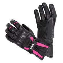 Women's Leather Motorcycle Gloves W-TEC Pocahonta